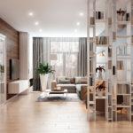 Дизайн проект квартиры, выполненный студией R2interior